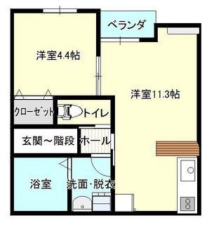 ディアコート向中野201(1LDK).JPG
